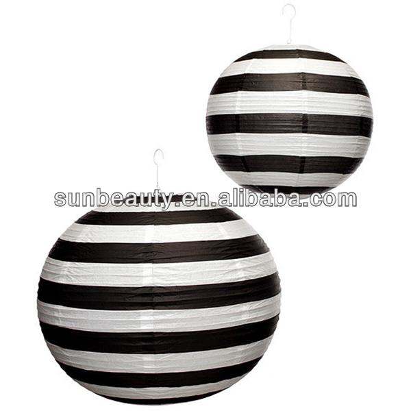 Black And White Striped Paper Lanterns, Black And White Striped Paper  Lanterns Suppliers and Manufacturers at Alibaba.com