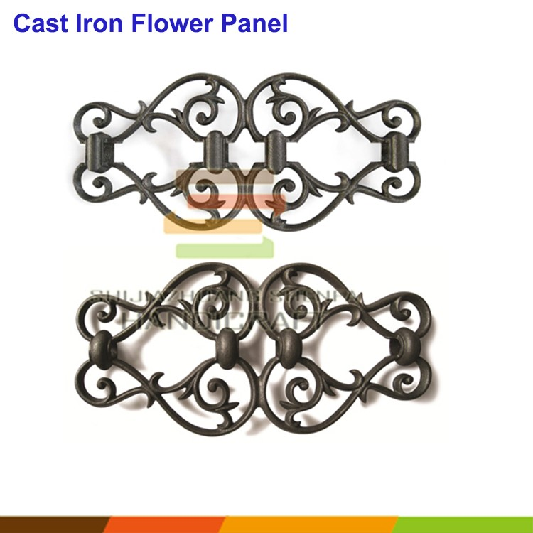 Fence railing cast iron ornaments welded flower