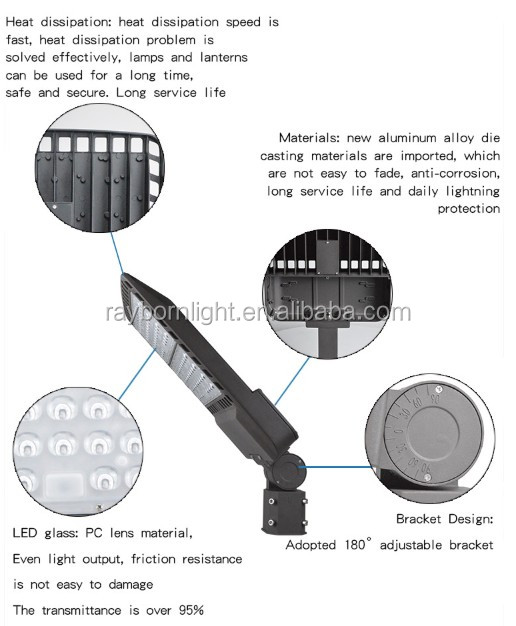 130lm/W Pure Aluminum LED Street Light Outdoor Lighting For Gardens