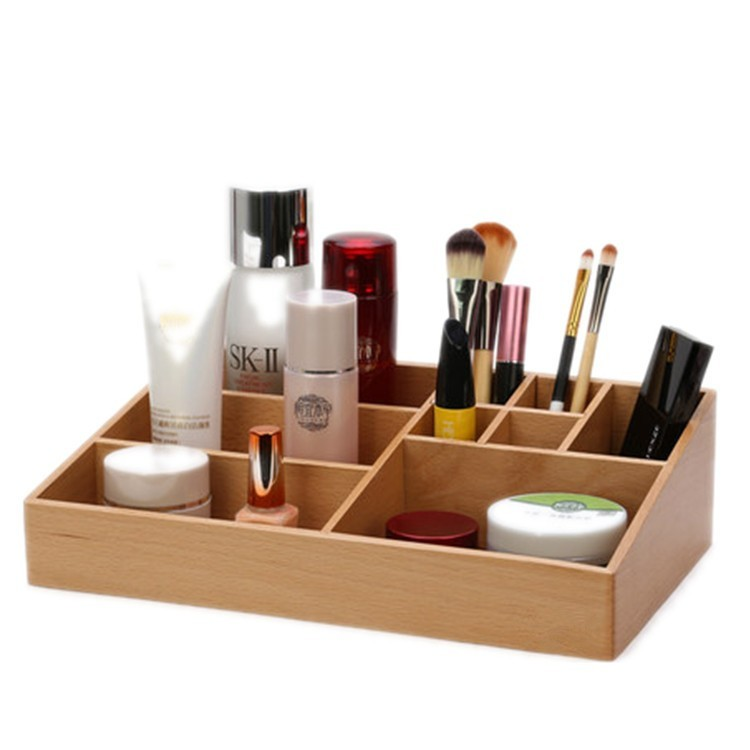 wood cosmetic case, cosmetic box, cosmetic display case