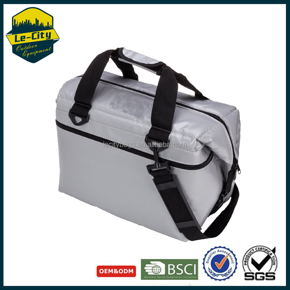 Waterproof Vinyl Soft Cooler with High-Density Insulation 12-24 Can Soft Cooler Bag