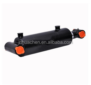 "Double Acting Welded Hydraulic Cylinder 3"" Bore 20"" Stroke Cross Tube End"