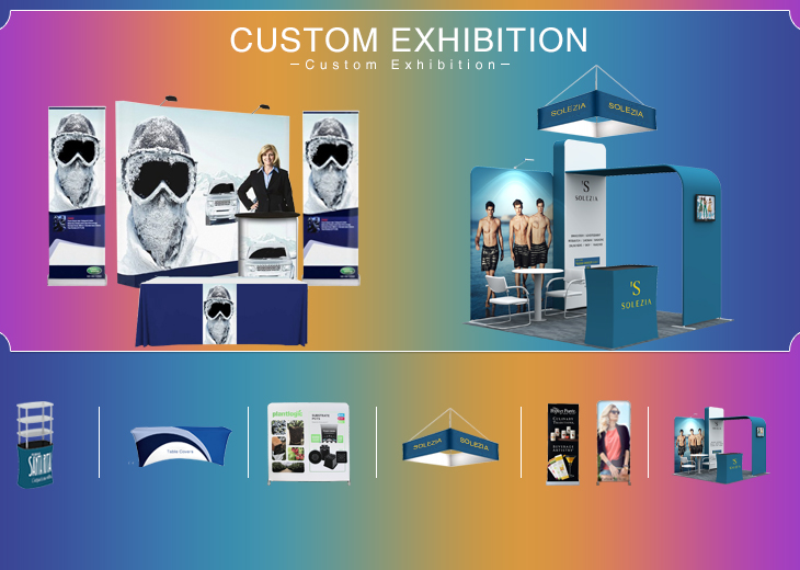 Teardrop Wide Base Exhibition Display Stand Roll Up Banner Stand