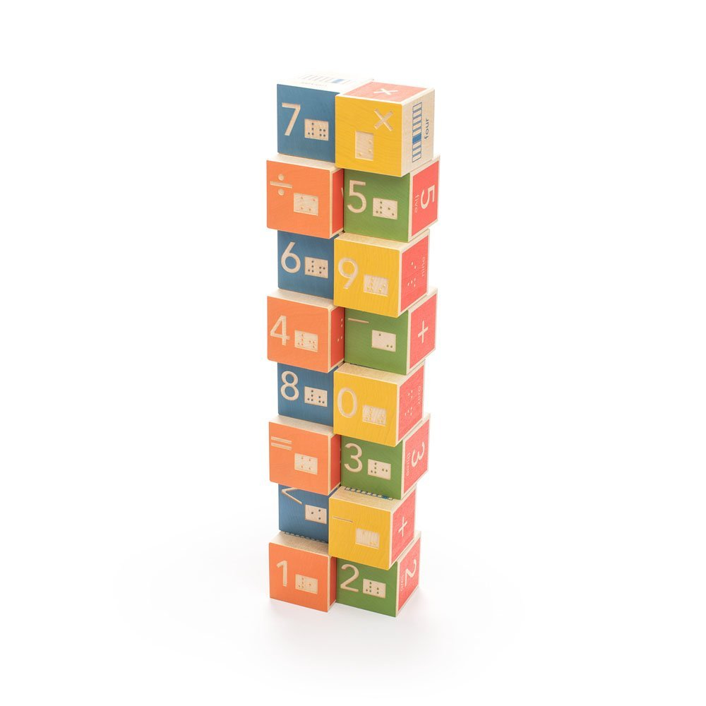 Uncle Goose Braille Math Blocks - Made in USA