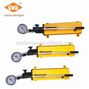 Prestressing Hydraulic Manual Hand Oil Pump for Jack