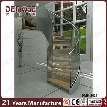 Demose Indoor Narrow Staircase Wooden Loft Ladder Design Made In