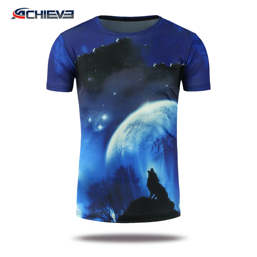 Sublimared short sleeve kids casual tee wear