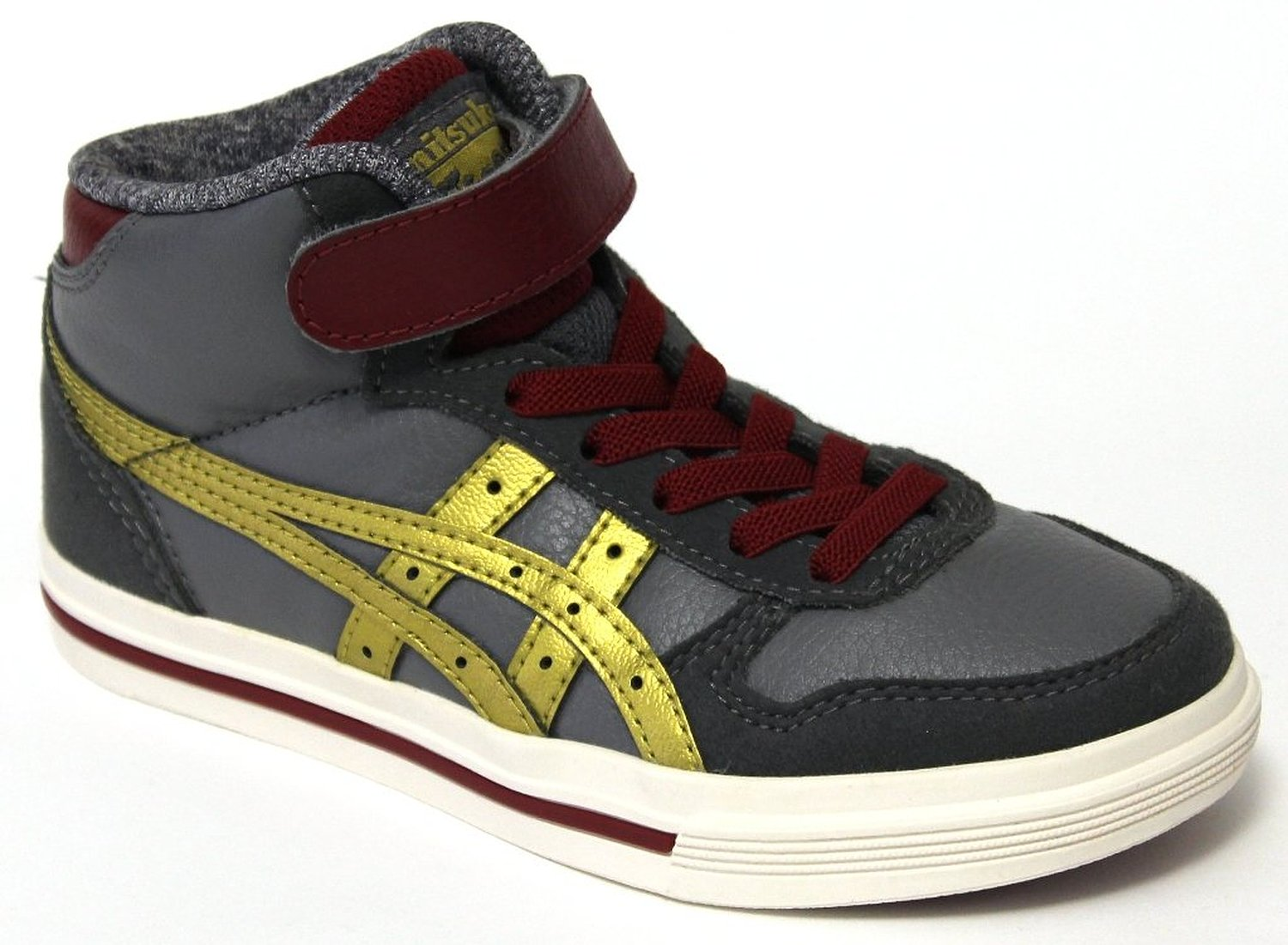 finest selection 7d3fe 1a5c0 Buy Onitsuka Tiger Aaron MT PS Kids Hi Top Sneakers - Grey ...