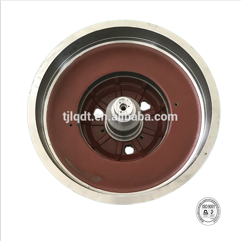 Safe and high quality construction elevator wheel or brake wheel of elevator parts