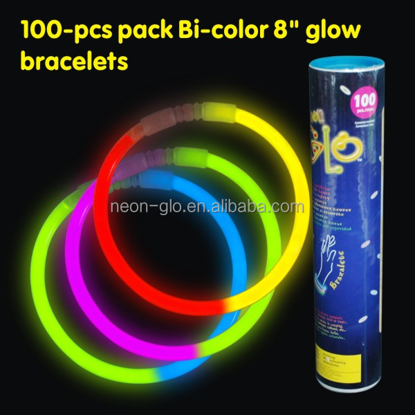 "Wholesale Novelty Fluorescent 8"" Glow in the Dark Bracelet or Ball as a Birthday Gift for Boys"