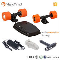MaxFind 4 wheels electric skateboard 600W dual motor kit boosted board RC controller