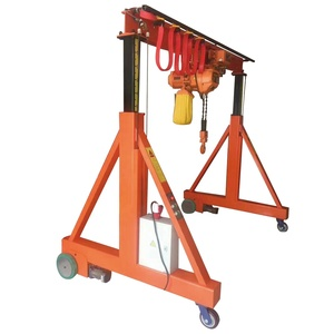 Made in China 1 2 3 5 10 15 20 ton workshop portal gantry crane / 5000kg mini small electric mobile hoist gantry crane