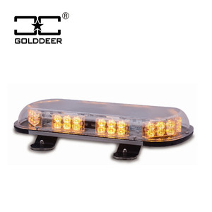 Magnetic mounted 360 Degree Amber Emergency LED strobe warning Light Bar with Toggle Adapter