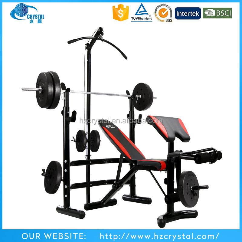 SJ-780 New product multi home gym <strong>equipment</strong> 10 positions adjustable weight bench press with squat rack