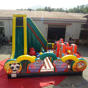 Cheap indoor playground equipment prices / children inflatable bouncer slide for sale / kids jumping bouncy house with slide