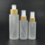 New 100ml 120ml 150ml glass cream bottle with bamboo wooden cap