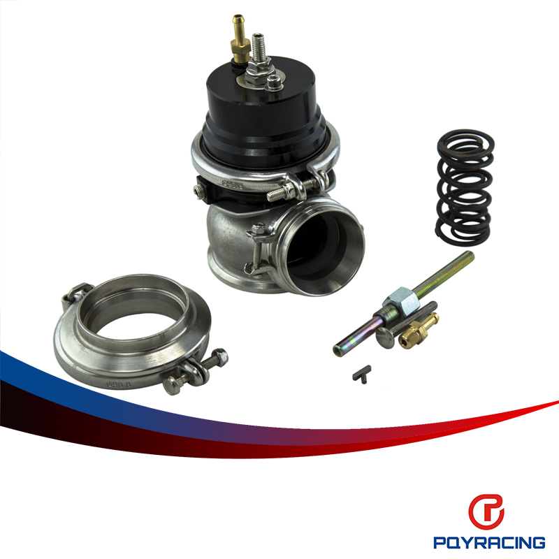 PQY RACING- GT II 60MM Adjustable Turbo Wastegate Black- V BAND For 1jzgte / SR20DET / JDM PQY5891BK