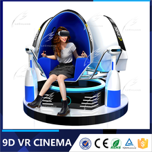 Best ever interactive 360 degree vr simulator 9d egg cinema for shooting/flying/diving children games