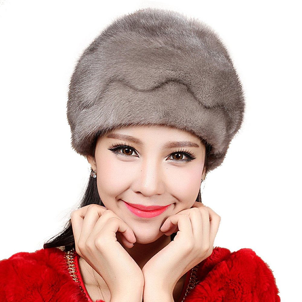 Get Quotations · Mink Fur Roller Hat with Mink Top a9b572760d4f