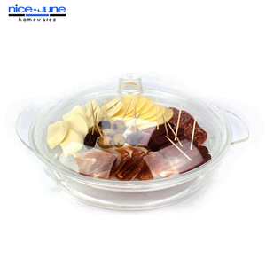 3 Pieces BPA Free Acrylic Appetizer on ice serving Tray