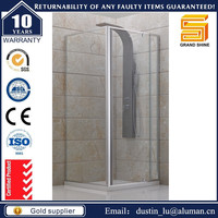 Nano easy clean glass 2016 best selling product square sliding shower enclosure