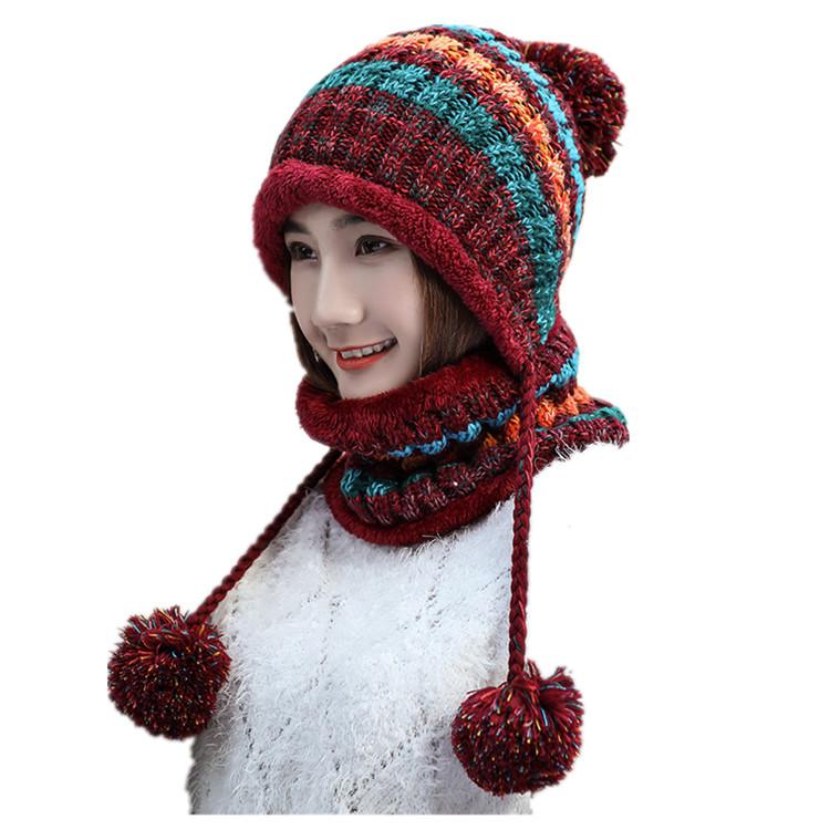 Unisex çocuklar sonbahar çocuk kış şapka ve eşarp setleri