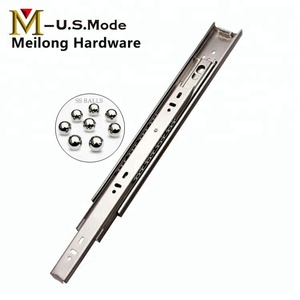 45mm Stainless Steel 201 Telescopic Channel Sliders / SS Drawer Sliding Track for Table Drawer 500mm