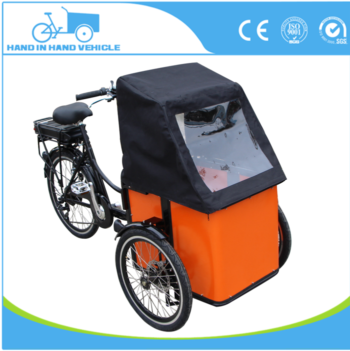 front loading box pedal assistant tricycle