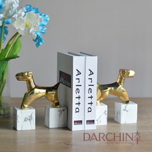 Arthur bookends gold animal decoration marble soft furnishing