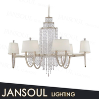 CE UL certificate decorative pendant lamp white luxury crystal chandeliers for hotels