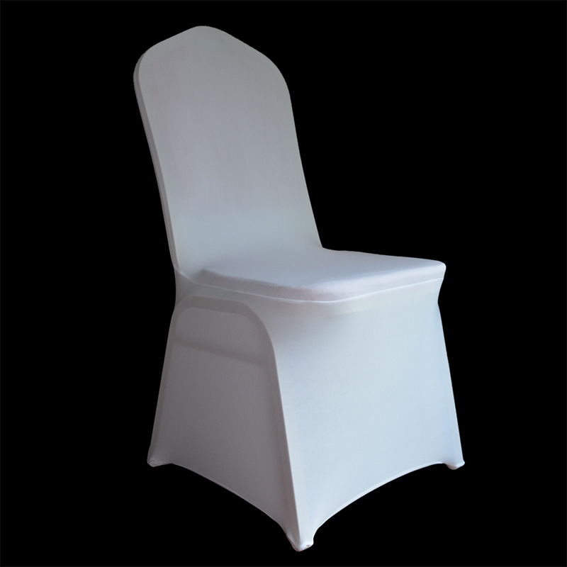 wholesale cheap white Universal lycra Spandex Chair Covers for banquet Wedding Party