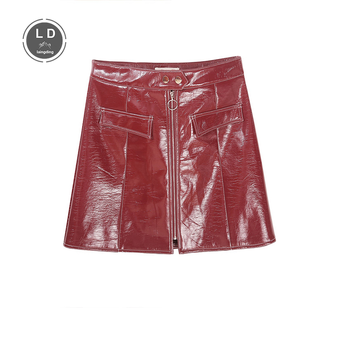 high waist leather skirt leather skirts for women skirt red