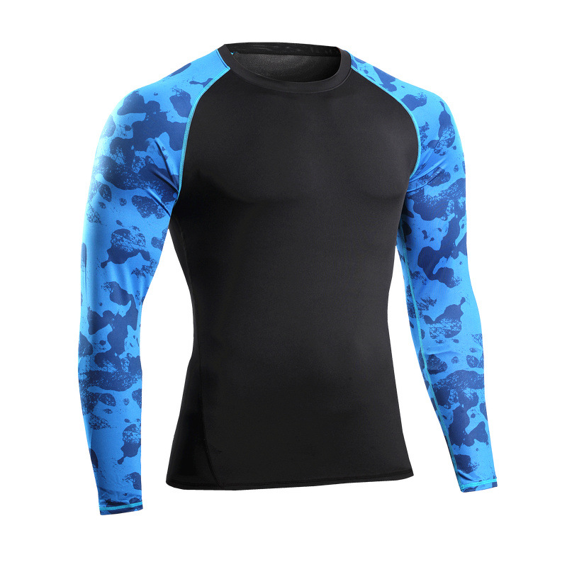 Quick Dry Fitness Sport Run Yoga Hiking Mens Long Sleeve T Shirt