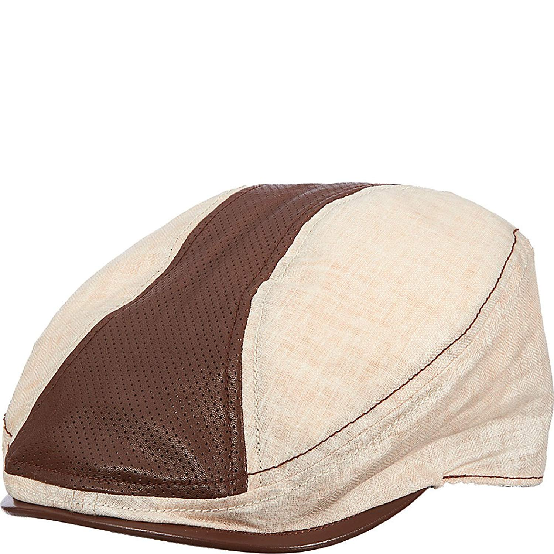 3a93d451 Get Quotations · Stetson Classic Men's Comfort Linen and Leather Ivy Cap
