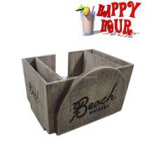 counter top organizer for drink wooden bar caddy with custom design