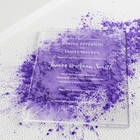 Wedding Wedding Fancy Acrylic Wedding Invitation Card