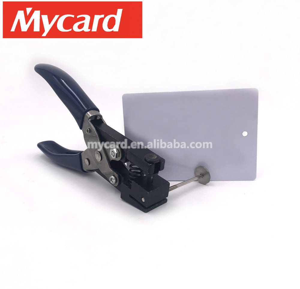 Manual PVC plastic hole punch card puncher