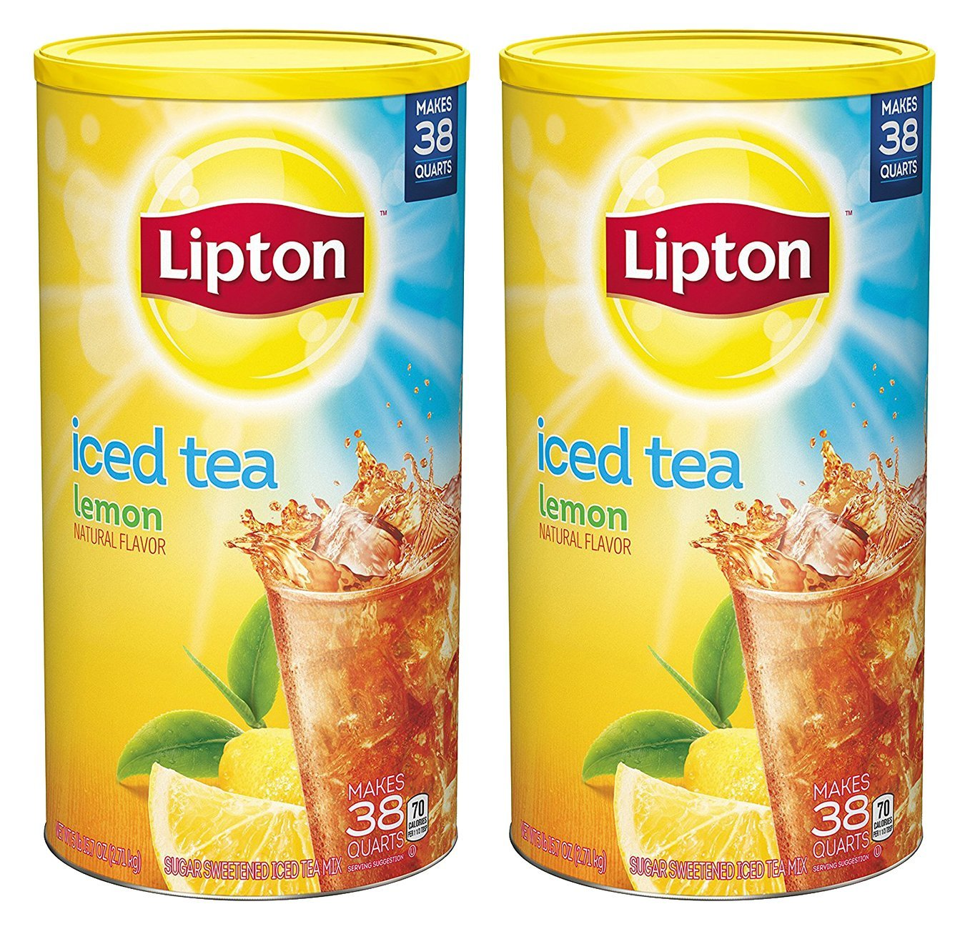 Lipton Iced Tea Mix, Lemon 38 qt - Pack of 2
