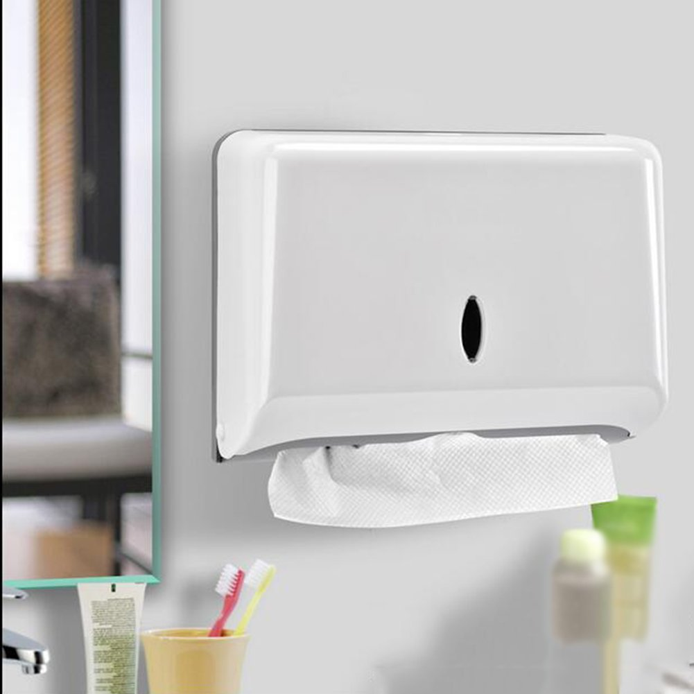Tissue Holders Wall - Mounted Tissue Box Toilet Paper Towel Box Free Punch Pumping Paper Kitchen Towel Rack For Bathroom & Kitchen(275205100mm) Toilet paper holder ( Color : White )