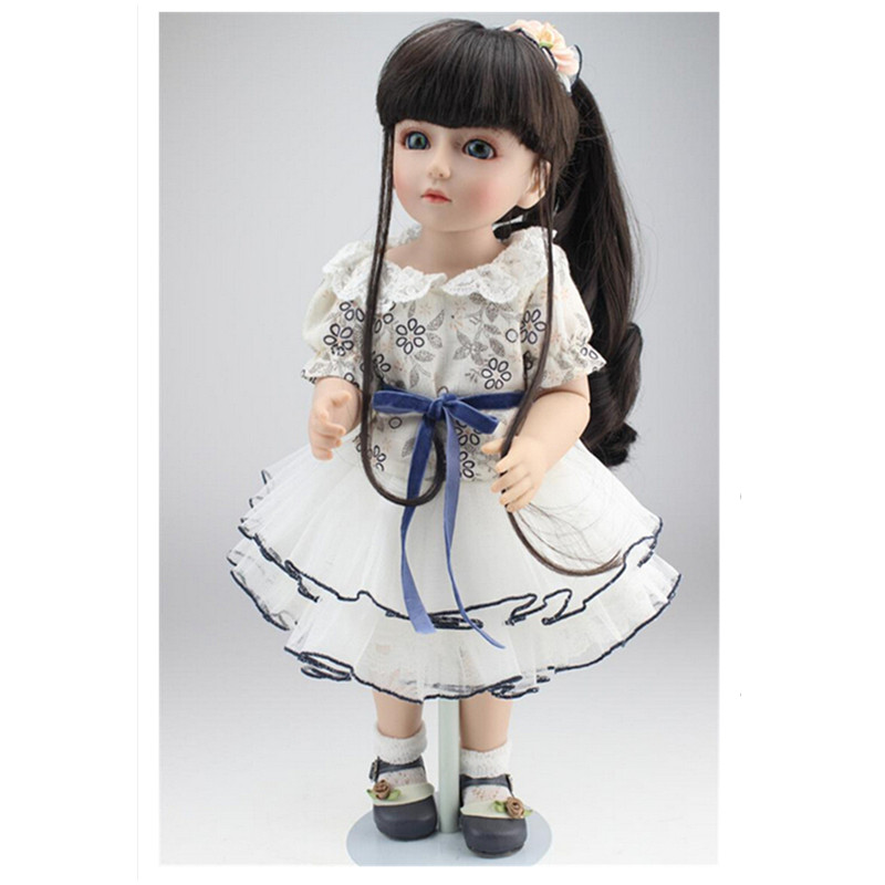 Bjd Dolls Girl Doll Realistic Toy 45cm 18 Inch Princess Dolls with Clothes Blue Eyes Toys