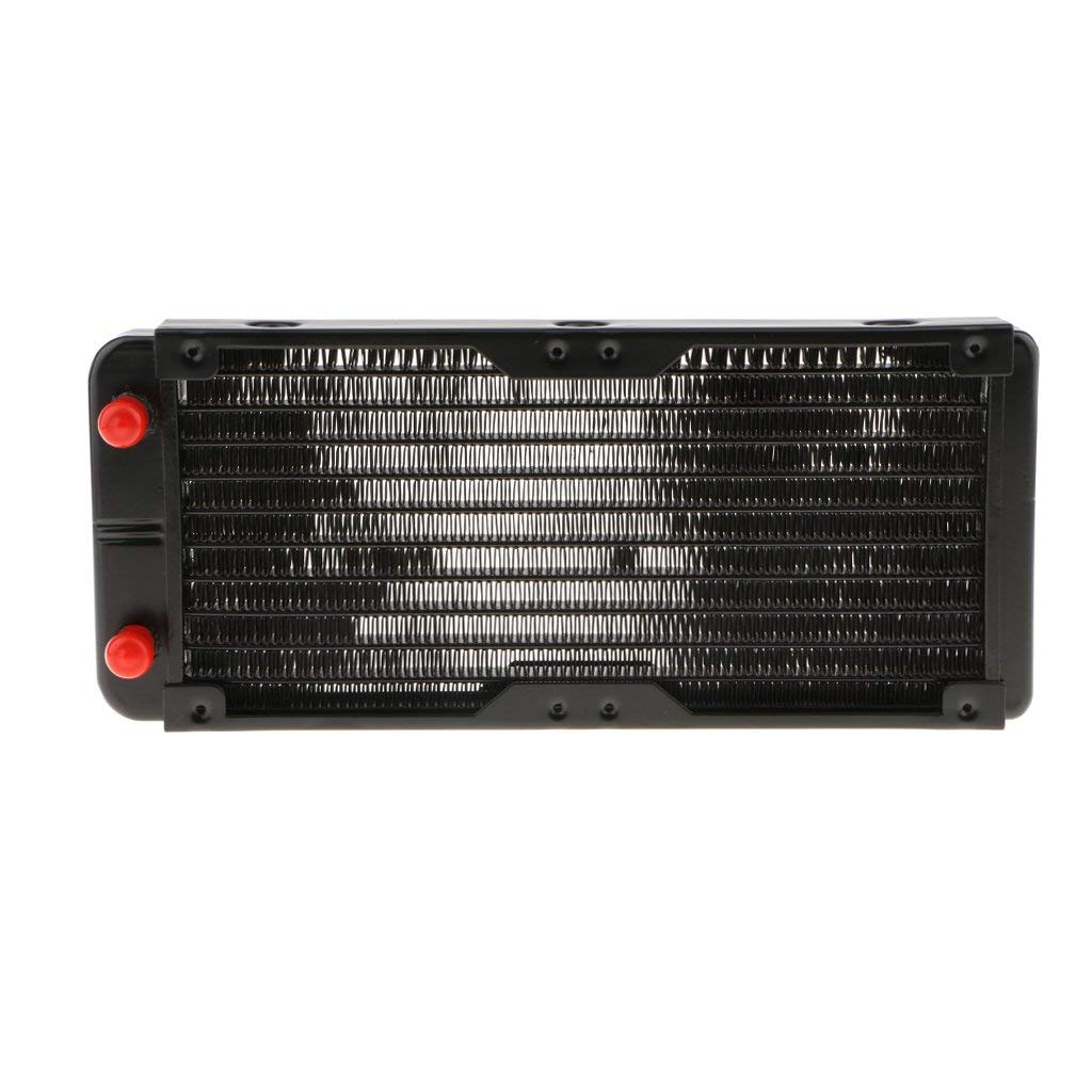 Flameer 240mm 10 Tubes Alloy PC Computer Radiator Water Cooler For LED CPU Heatsink for Air Conditioning Evaporator