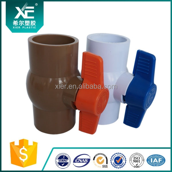 Mini Type Brown Color PVC Water Valve