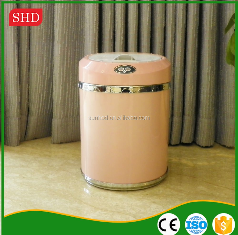 new style infrared sensor intelligent virgin abs electronic trash can
