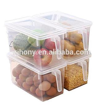 Plastic Storage Containers Square Handle Food Storage Organizer Boxes with Lids for Refrigerator Fridge Cabinet Desk  sc 1 st  Alibaba & Plastic Storage Containers Square Handle Food Storage Organizer ...