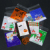 100pcs 10*10 cm square transparency plastic Christmas Halloween pattern biscuit opp packaging bag for jewelry making gift bags