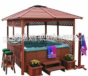 modern desigh luxury wooden gazebo