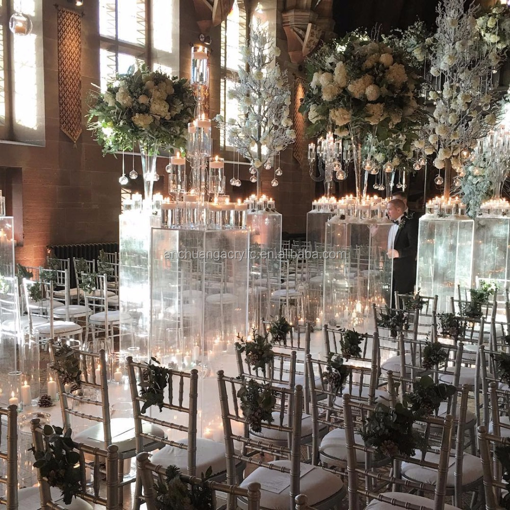Lucite Columns for Weddings