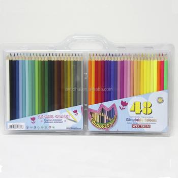 Multi Color Pencil /50,48,36,24,12 Color Pencil Set In Pvc Bag For ...