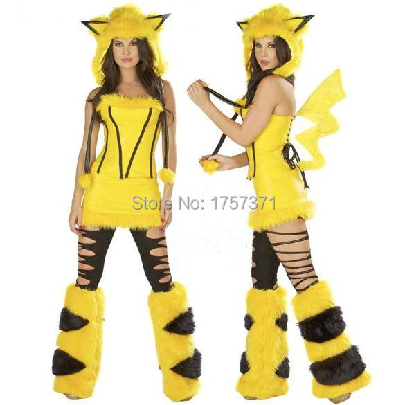 Buy Hot Sale Cute Style Halloween Costumes Christmas Party Costume Comfortable Pikachu Role Playing Cartoon Character Clothes In Cheap Price On M Alibaba Com