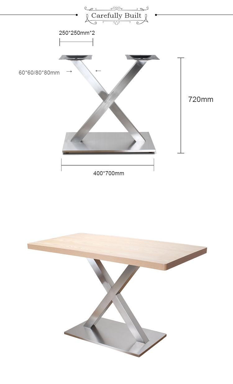 Turbo Neues Produkt Hohe Qualität Brief Dekorative Tischfuß Esstisch DJ76